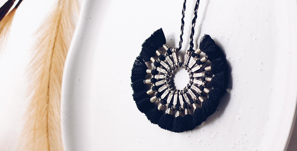 Lion's Mane Pendant Necklace
