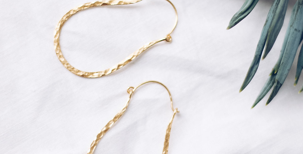 Spirited Textured Contour Earrings