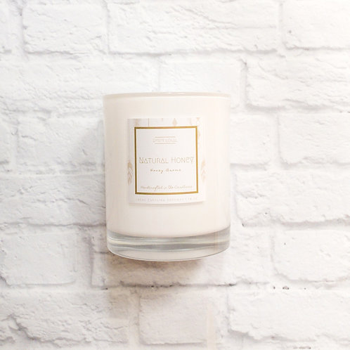 natural honey - 14 oz. beeswax candle