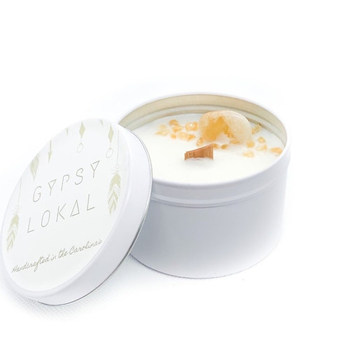 citrine crystal - 8 oz. tin
