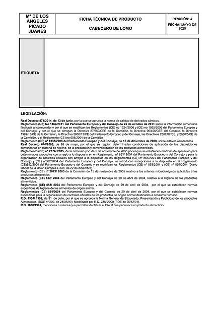 Ficha tecnica CABECERO DE LOMO rev. 04.2