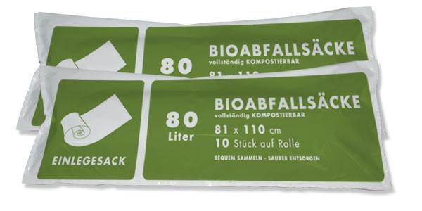 60-80 Lt. Biosack ( 2 Rll. á 10 Stk. )