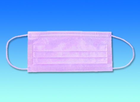 OP-Maske rosa mit Gummiband