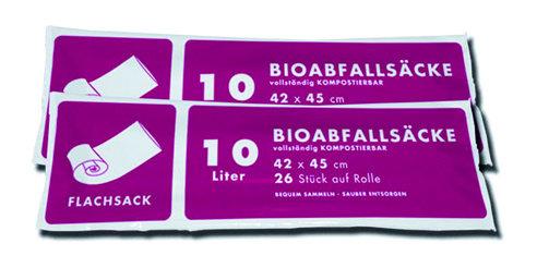 10Lt. Biosack ohne Henkel ( 2 Ro. á 26 Stk. )