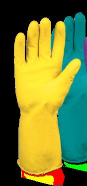 Haushalts Handschuh, gelb RESTPOSTEN (Gummi Handschuh)