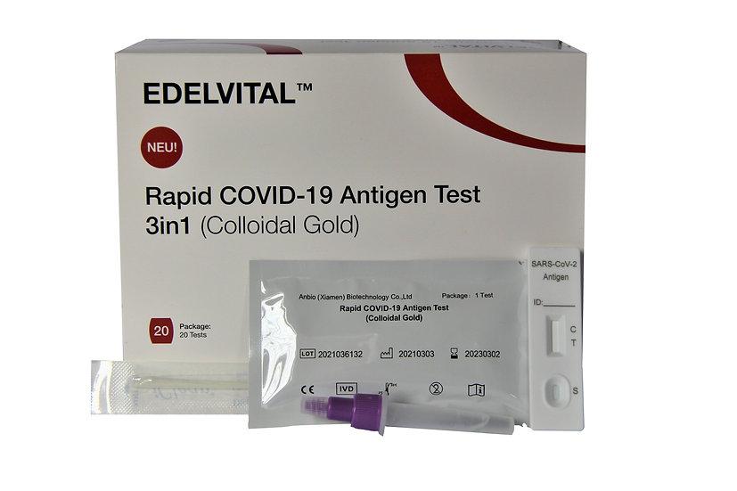 EDELVITAL-Anbio Corona Schnelltest - NEU mit QR Code