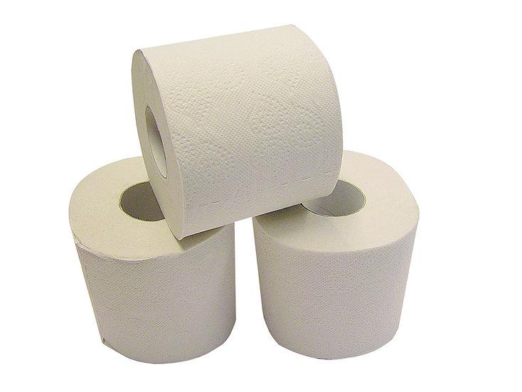 Toilettenpapier, weiß (7x 8 Rollen)