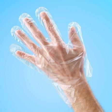 PE Einmal - Handschuhe gehämmert (100 Stk. )