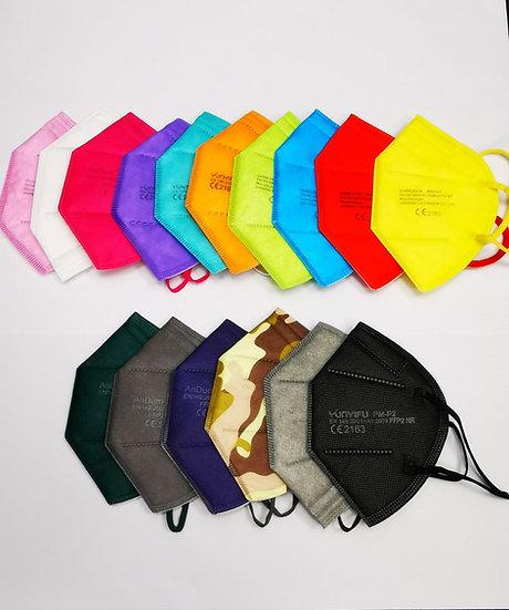 FFP2 Atemschutz-Maske ohne Ventil - bunte Farben