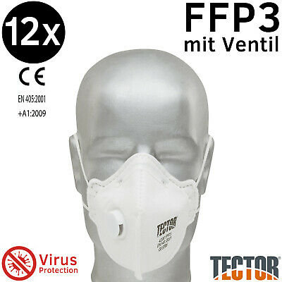 FFP 3 Atemschutz - Maske mit Ventil (Faltmaske) 12 Stk