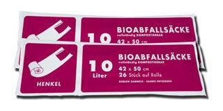 10Lt. Biosack mit Henkel ( 2 Ro. á 26 Stk. )