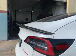 Tesla Model 3 Carbon Fiber Rear Spoiler Ver.1