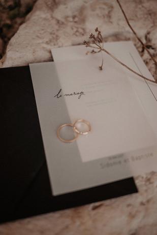 Faire-part mariage minéral minimaliste et élégant