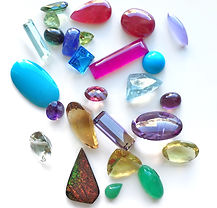Tourmalines Watermelon assortment of jewels and gems colorful gems precius stone custom jewelry los angeles jeweler
