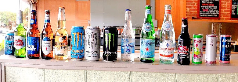 A wide variety of drinks.