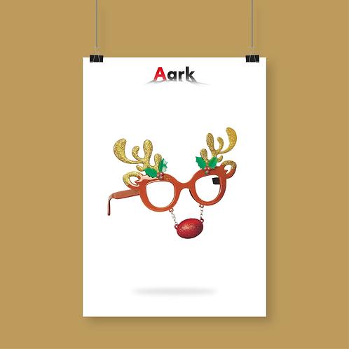 Novelty Rudolph Christmas Glasses