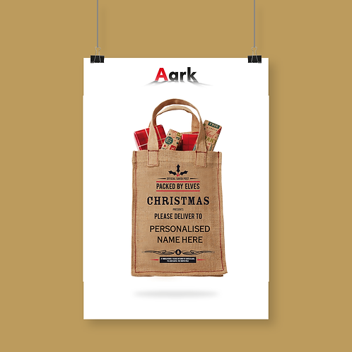 Picked By Elves Small Christmas bag with Space for Personalisation
