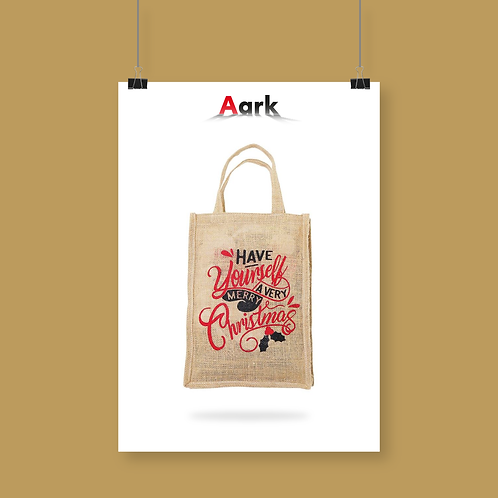 Have Yourself A Very Merry Christmas Small Jute Bag