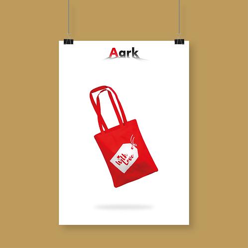 With Love Christmas Shopper Bag