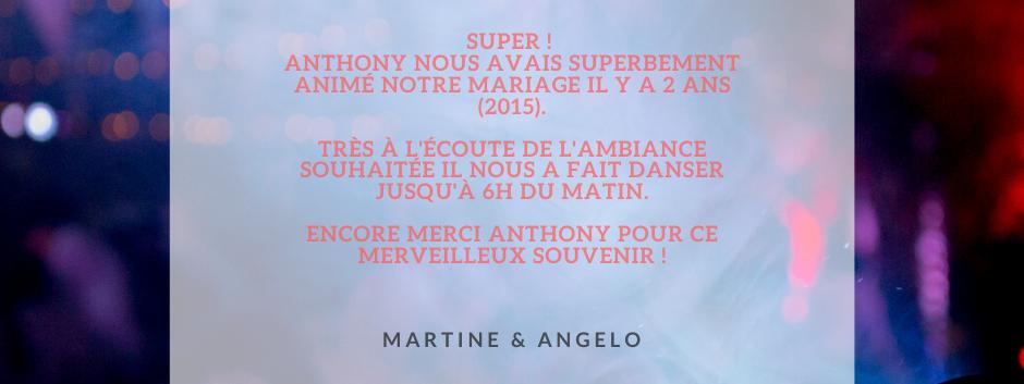 AVIS MARTINE & ANGELO - ANTHO'MUSIC ANIM