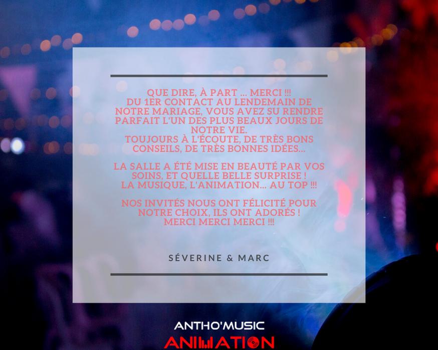 AVIS SEVERINE & MARC - ANTHO'MUSIC ANIMA