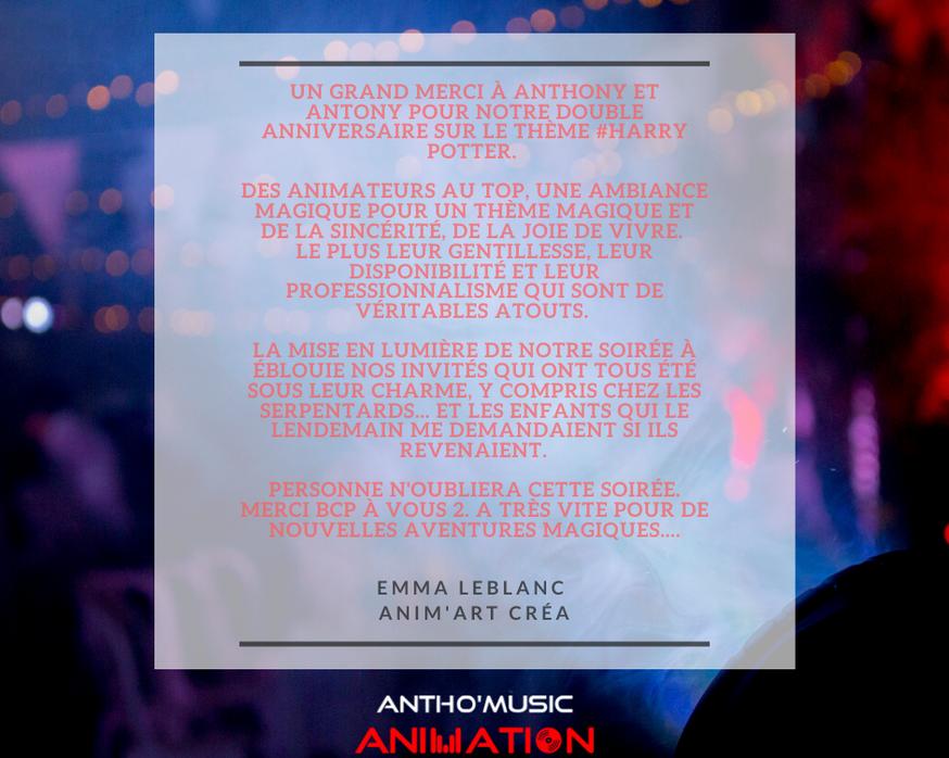 AVIS EMMA LEBLANC - ANTHO'MUSIC ANIMATIO
