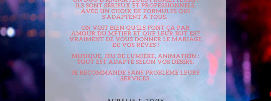 AVIS AURELIE & TONY - ANTHO'MUSIC ANIMAT