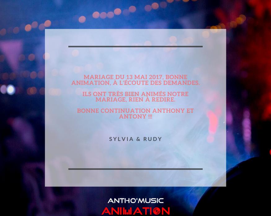 AVIS SYLVIA & RUDY - ANTHO'MUSIC ANIMATI