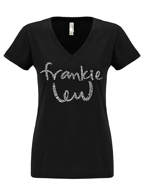 Frankie Lew Women's V-Neck Tee