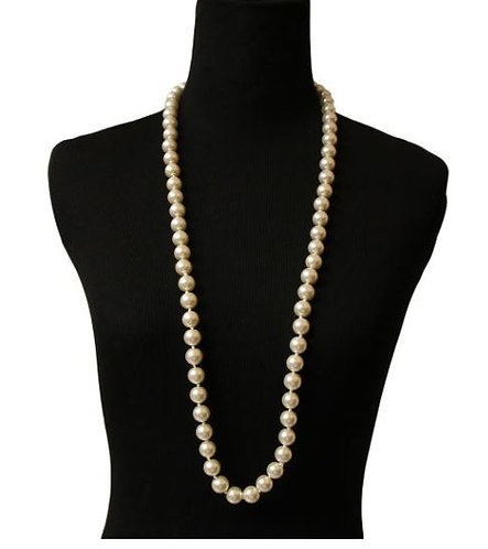 "SKU-29 Glass Pearls (36"" 12mm Cream)"