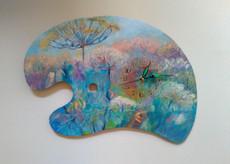 """Картина - годинник Палітра літнього настрою, із серії """"Ода Природі"""""""