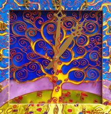 Картина-годинник Древо життя