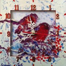 Годинник настінний картина Зимова казка