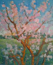 Посеред поля дика яблуня цвіте