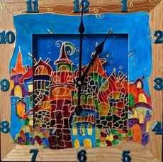 Годинник настінний Місто, у якому живе Щастя!