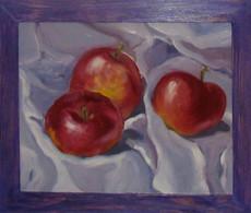 Яблука на склі