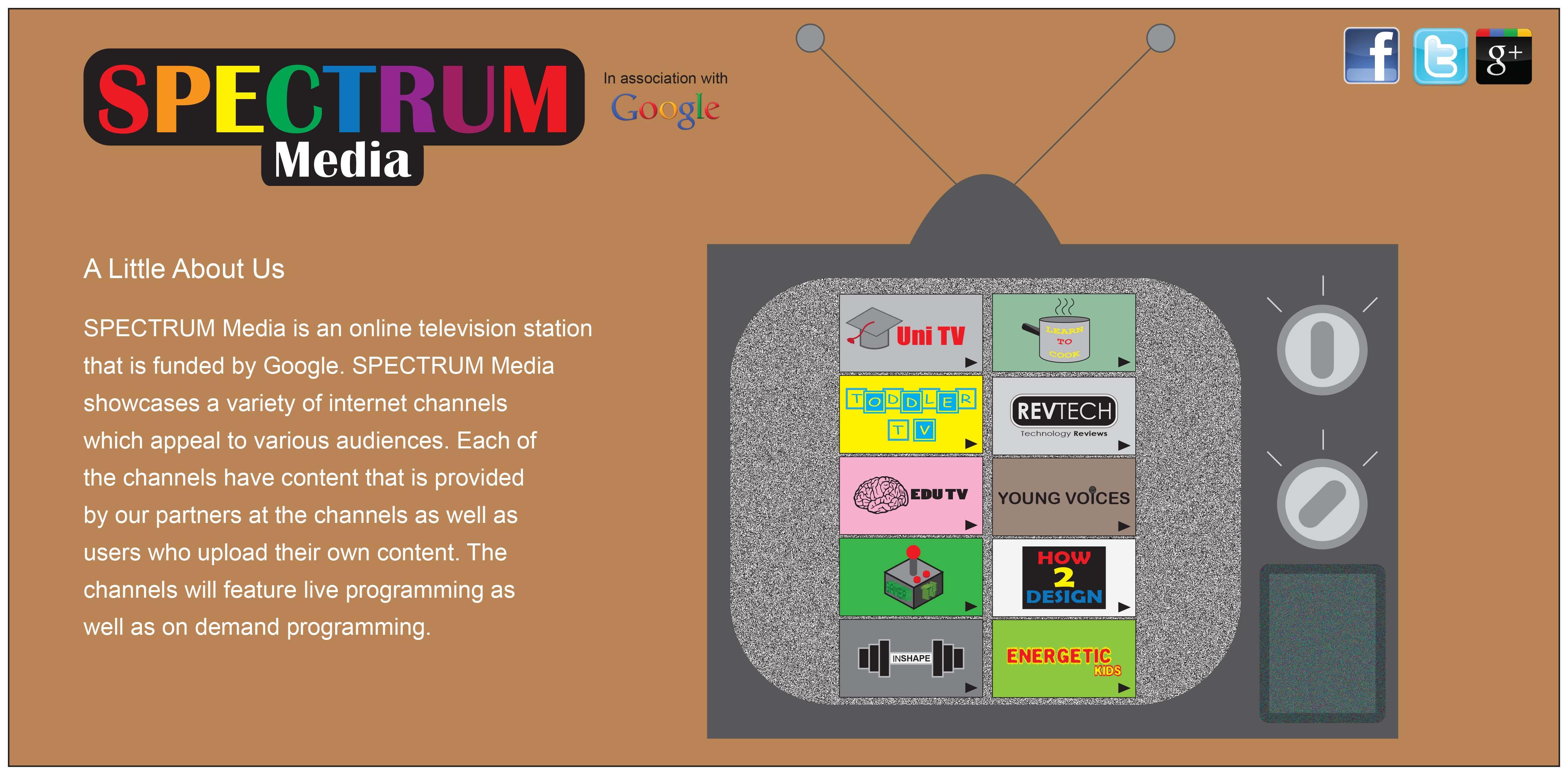 Internet TV Station Project | Harshil Patel Design