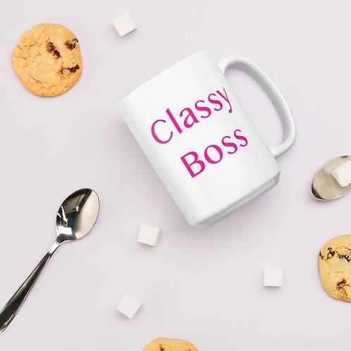 Classy Boss glossy mug