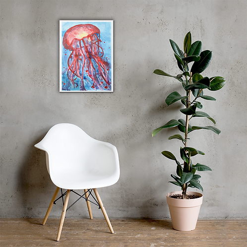 Jellyfish Watercolor Canvas