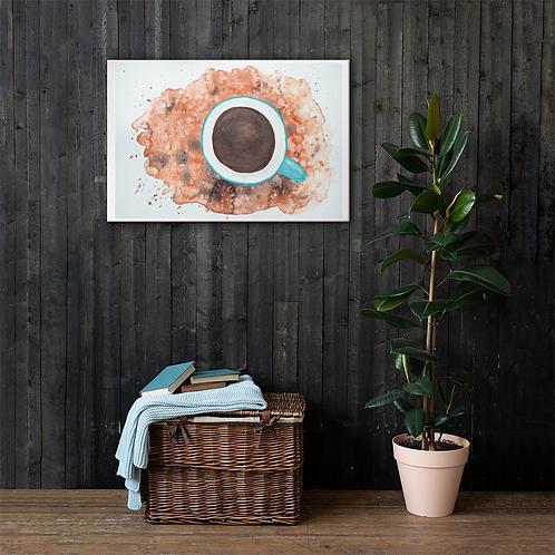 Coffee Watercolor Canvas