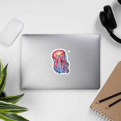 Jelly Fish Watercolor Bubble-free sticker