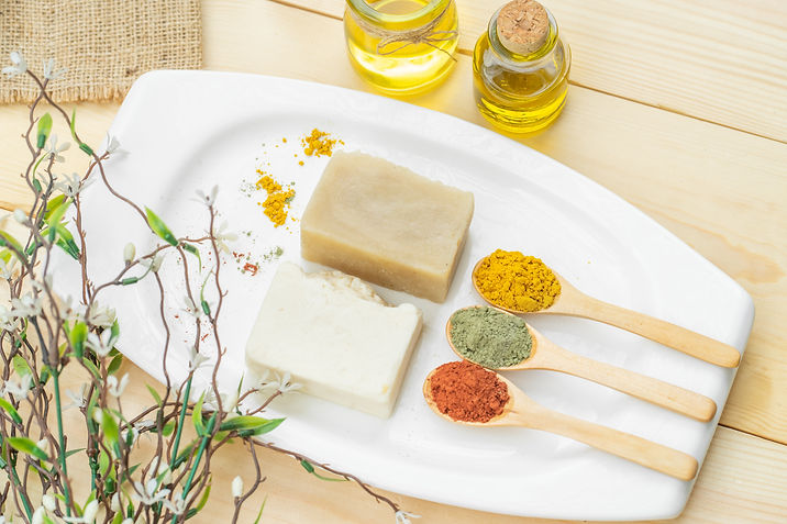 Soap bars and soap making ingredients is