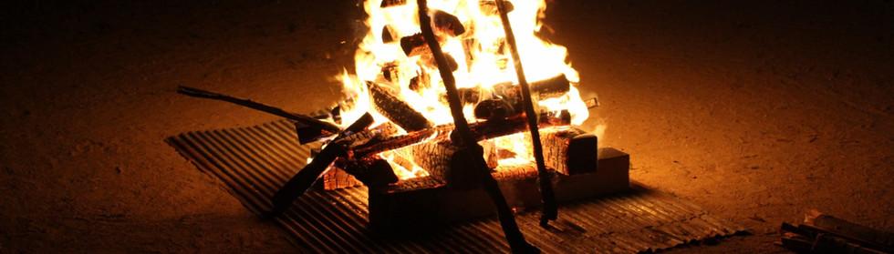 camp fire in Miwa