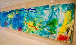 Lobby that welcomes you with art
