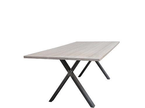 Portland tafel met metalen X poot