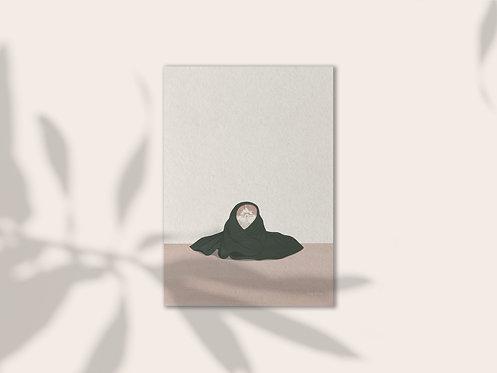 Catnap illustration art print lugi design