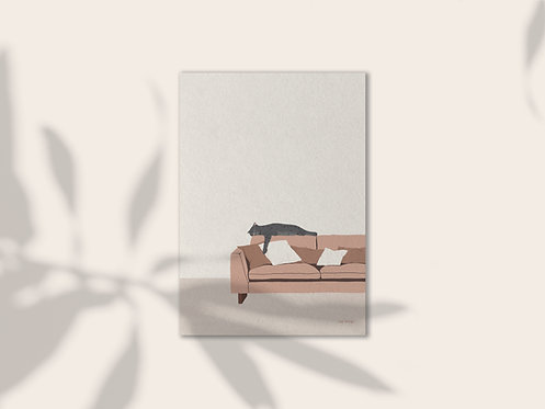 Sofa so good illustration art print lugi design