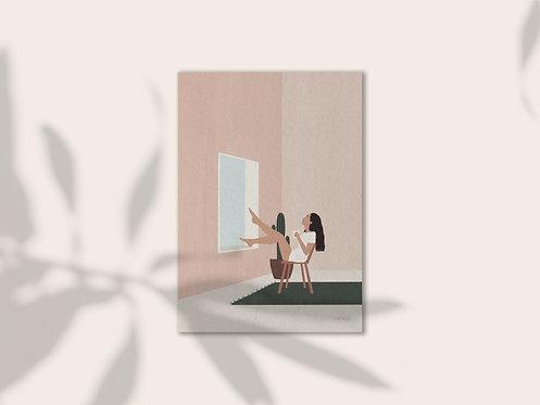 Daydreamer illustration art print lugi design