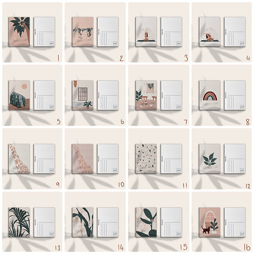 Custom Bundle of 4 Postcards/ Mini Prints