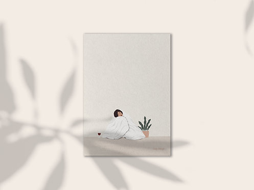 Snuggle illustration art print lugi design